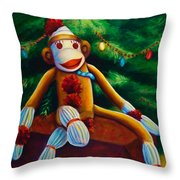 Christmas Made Of Sockies Throw Pillow