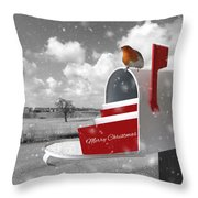 Christmas Mail Throw Pillow