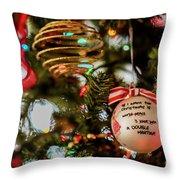 Christmas Martini 4389 Throw Pillow
