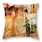 Christmas Mass Throw Pillow