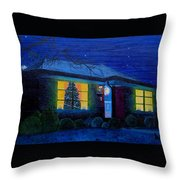 The Image Of Christmas Past Throw Pillow
