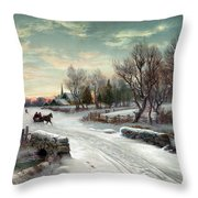 Christmas Morn, C1885 Throw Pillow