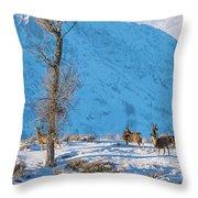 Christmas Morning Magic Throw Pillow