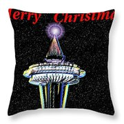 Christmas Needle Throw Pillow