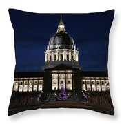 Christmas Night In Sf Throw Pillow