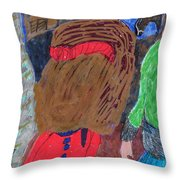 Christmas On A Farm Throw Pillow