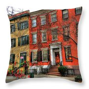 Christmas On Grove Street Throw Pillow