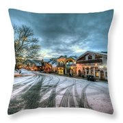Christmas On Main Street Throw Pillow by Brad Granger