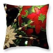 Christmas Ornaments 2 Throw Pillow