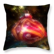 Christmas Ornaments Abstract Two Throw Pillow