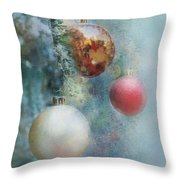 Christmas - Ornaments Throw Pillow