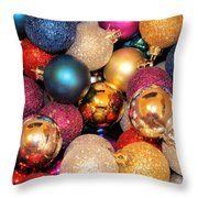 Christmas Ornaments Throw Pillow