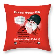 Christmas Overseas Gifts -- Ww2 Throw Pillow
