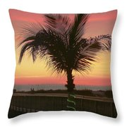 Christmas Palm Throw Pillow