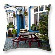 Christmas Patio Throw Pillow