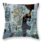 Christmas Polar Bears Throw Pillow