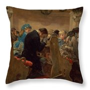 Christmas Prayers Throw Pillow by Henry Bacon