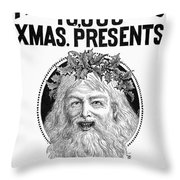 Christmas Present Ad, 1890 Throw Pillow