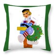 Christmas Shopping - Shop On-line Throw Pillow