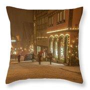 Christmas Shopping Throw Pillow