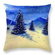 Christmas Snow Throw Pillow
