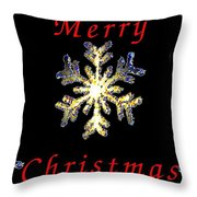Christmas Snowflakes Throw Pillow