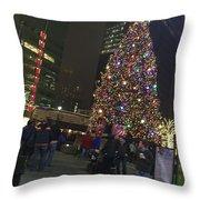 Christmas Spirit Detroit Throw Pillow