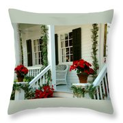 Christmas Spirit In Key West Throw Pillow