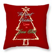 Christmas Spirit Throw Pillow
