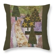 Christmas Stroll Card Throw Pillow