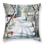 Christmas Surprise Throw Pillow