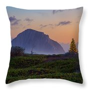 Christmas Time At The Rock Throw Pillow