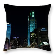 Christmas Time In Omaha Throw Pillow
