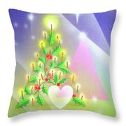 Christmas Tree And Colors Throw Pillow