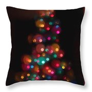 Christmas Tree Circles Abstract  Throw Pillow