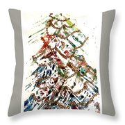 Christmas Tree Throw Pillow by Dana Patterson