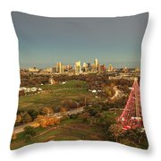 Christmas Tree In Austin Throw Pillow