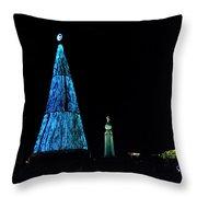 Christmas Tree San Salvador 4 Throw Pillow