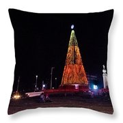 Christmas Tree San Salvador 6 Throw Pillow