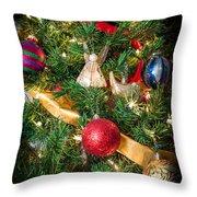 Christmas Tree With Angel 4 Throw Pillow