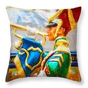 Christmas Trumpet Throw Pillow