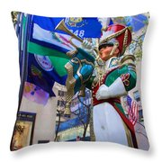 Christmas Trumpeter At The Rock Throw Pillow