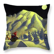 Christmas Under Olympus Throw Pillow