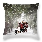 Christmas Walking Throw Pillow