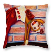 Christmas With Care Throw Pillow