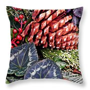 Christmas Wreath 2 Throw Pillow