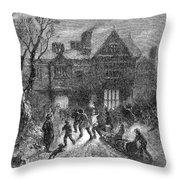 Christmas: Yule Log Throw Pillow