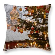 Christmastime At Tivoli Gardens Throw Pillow
