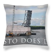 Christo Does Door County Throw Pillow