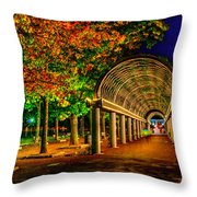 Christopher Columbus Park 3766 Throw Pillow